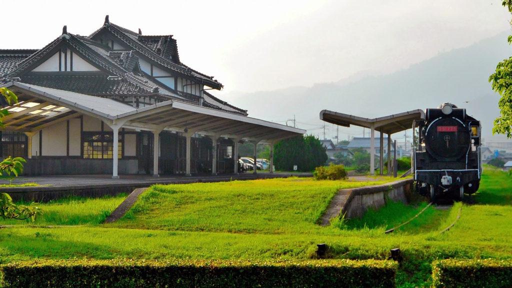 かつて使われていた大社駅の美しい風景 - -島根県:出雲大社- -