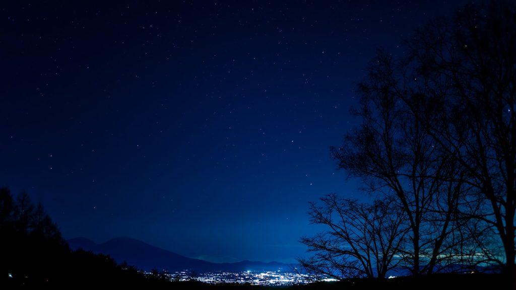 浅間山と佐久平の夜景:信州たてしなフォトコンテスト