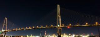 海の闇に映える光:金城ふ頭(愛知県名古屋市の観光、撮影スポット)